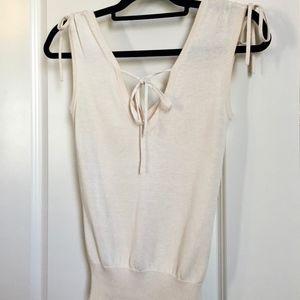 Diane von Furstenberg V Neck Silk Blend Top